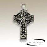 Pendentif croix celtique acier SPE003