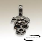 Pendentif tête de mort acier SPE062