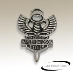 Pendentif épée ailes blason Harley Davidson acier SPE067