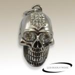 Pendentif tête de mort brillants acier SPE069