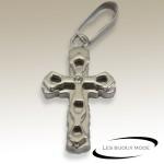 Pendentif croix chrétienne acier SPE106
