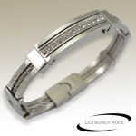 Bangle strass acier SBA011