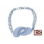 Bracelet chaîne demi-sphères entrelacées acier SBR108